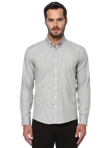 George Hogg George Hogg Düğmeli Yaka Uzun Kollu Slim Fit Erkek Gömlek Gri